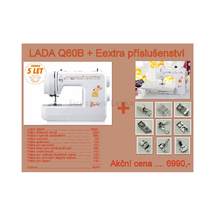 Lada Q60B+přídavný stolek a patky